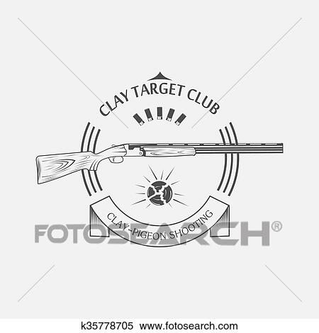 Clipart of sporting clay Skeet k35778705 - Search Clip Art ...