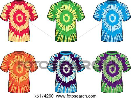 clipart of tie dye shirts k5174260 search clip art illustration