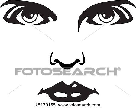 Clipart Visage Femme K5170155 Recherchez Des Clip Arts Des