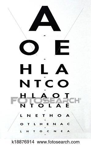 Stock Photo Of Eye Examination Snellen Chart K18876914 Search