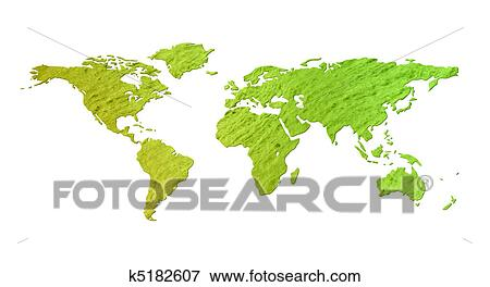 Search World Map.Stock Illustration Of Green World Map Isolated K5182607 Search