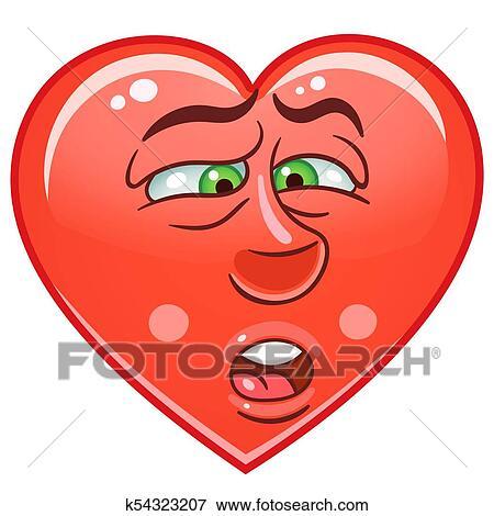 Clip Art Herz Emoticon Symbol K54323207 Suche Clipart Poster