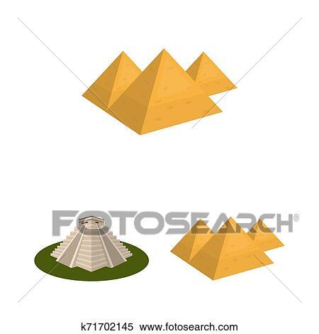 Isolado Objeto De Piramide E Egito Sinal Jogo De