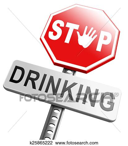 Stop drinking Drawing