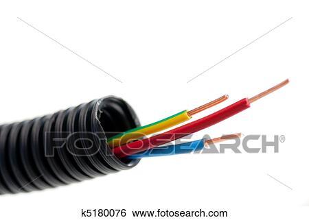 Tubazione Di Elettrico Rame Cavi Per Elettricista Con 3