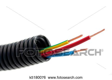 Stock Images of tubing of electrical copper cables for electrician ...