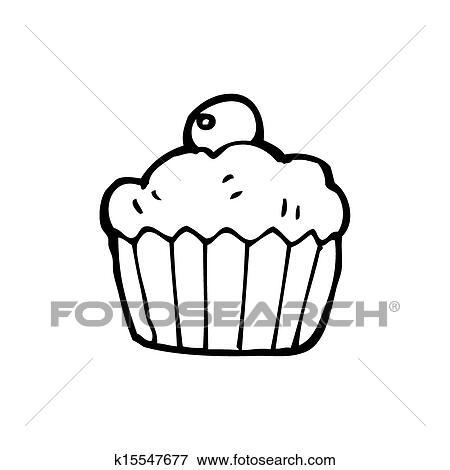 Colección de ilustraciones - caricatura, cereza, cupcake k15547677 ...