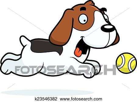 clipart of cartoon beagle chasing ball k23546382 search clip art rh fotosearch com clipart beagle dog clipart beagle dog