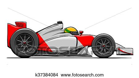 Dessins child 39 s rigolote dessin anim formule - Course de voiture dessin anime ...
