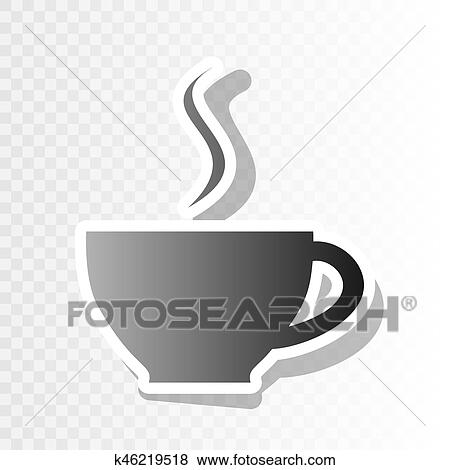 clip art cup of coffee sign vector new year blackish icon on transparent