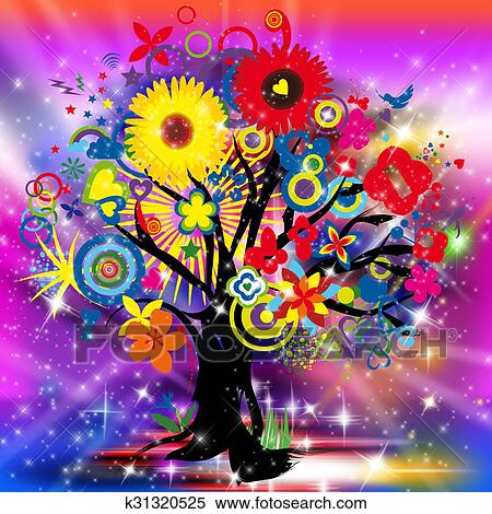 stock illustration of happy tree of life k31320525 search clipart