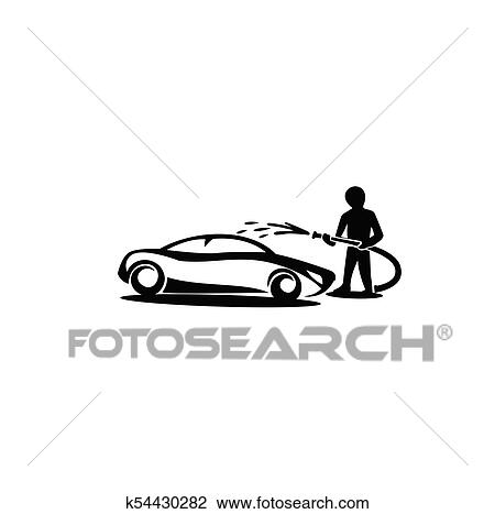 Minimal Logo Car Wash Vector Illustration Clipart K54430282