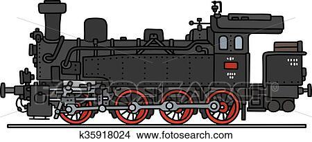 Old steam locomotive Clipart