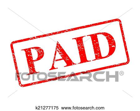 clipart of paid red stamp k21277175 search clip art illustration rh fotosearch com pain clip art clipart paid in full stamp