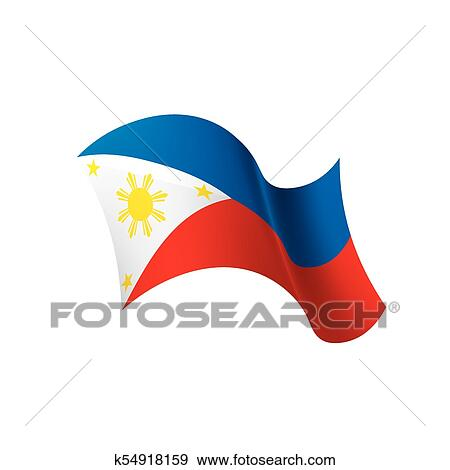 Philippines Flag Vector Illustration Clip Art K54918159 Fotosearch Get your eps, ai, pdf, and svg files here. philippines flag vector illustration
