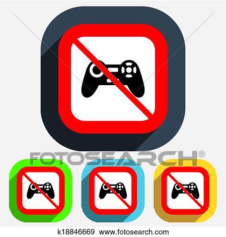 أدى على الرغم من Play قضيب التوجيه وقع Icon جهاز فيديو Game Clip Art