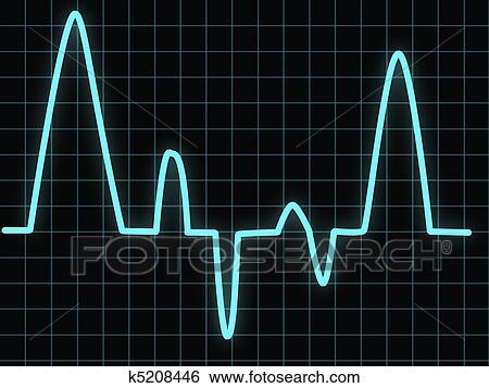 Heartbeat Line Art : Stock illustration of heartbeat k search clip art