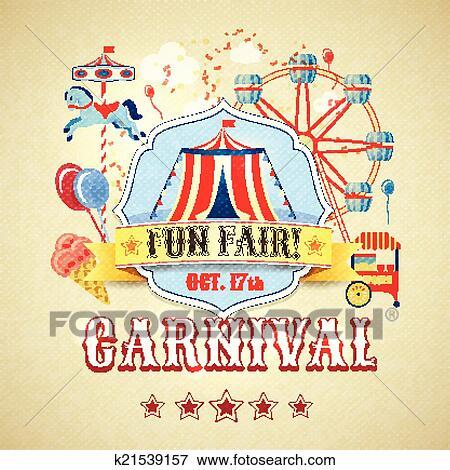 Clip Art Of Vintage Carnival Poster K21539157