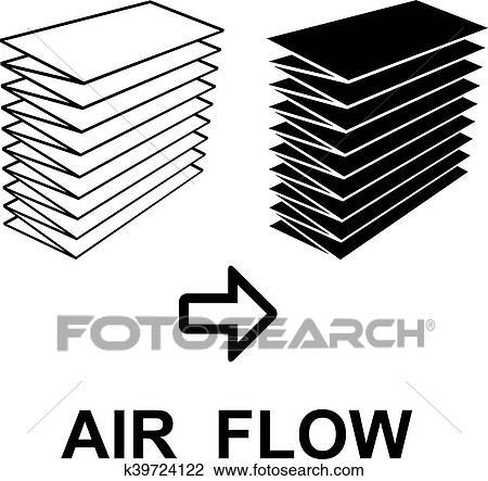Clipart Of Air Filter Black Symbol K39724122 Search Clip Art