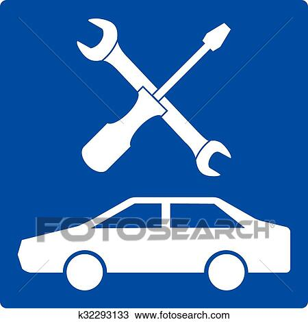 clipart of auto repair icon k32293133 search clip art rh fotosearch com auto repair clipart free auto repair clipart icons