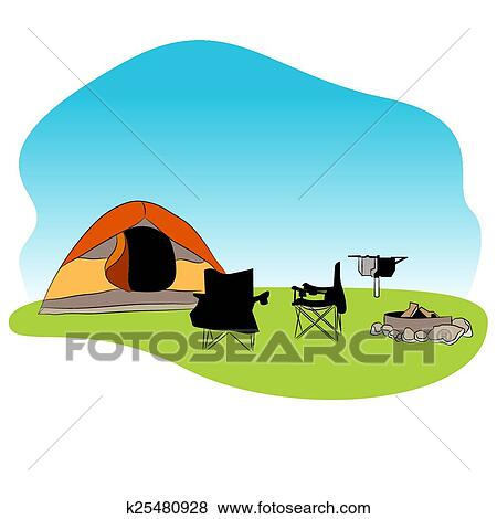 An Image Of A Camping Background
