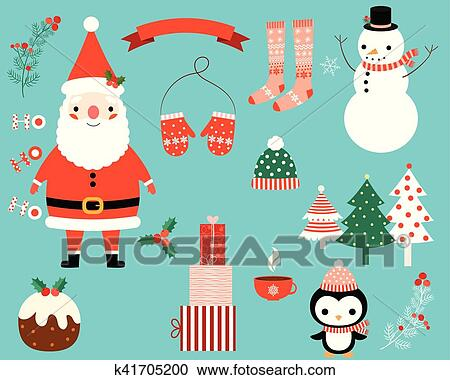e3503c40e41ec A collection of winter holiday images in red and green - Santa