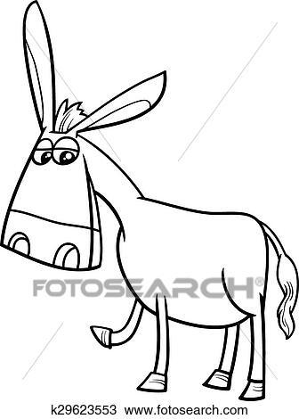 Clipart Esel Karikatur Ausmalbilder K29623553 Suche Clip Art