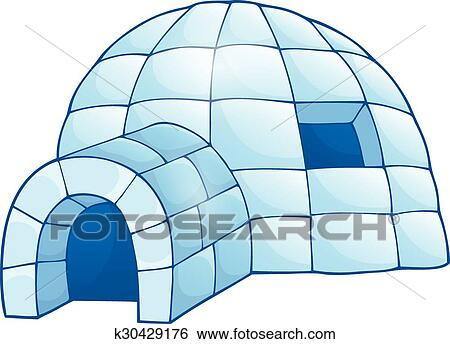 clip art of igloo theme image k30429176 search clipart rh fotosearch com igloo clip art black and white clipart picture of igloo