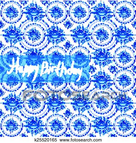 clipart alles gute geburtstag card altmodisch sch big schick muster mit blaue blumen. Black Bedroom Furniture Sets. Home Design Ideas