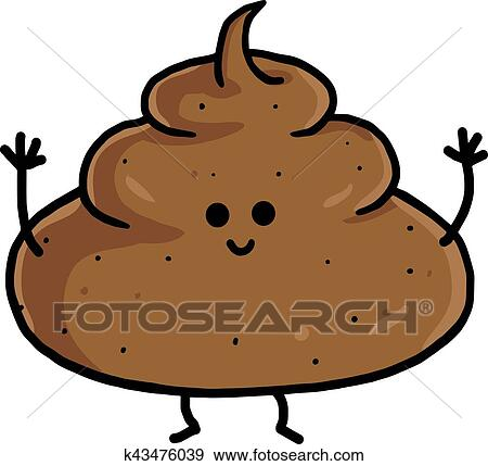clip art of poop cute cartoon vector illustration k43476039 search rh fotosearch com pool clipart pool clip art images