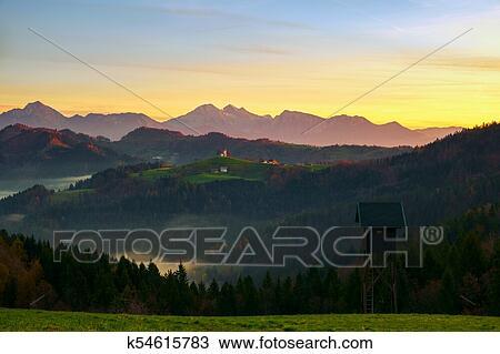 Sveti Tomaz church in Slovenia Stock Image k54615783 Fotosearch