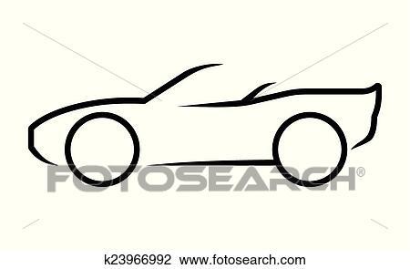 Clipart - auto, strichzeichnung k23966992 - Suche Clip Art ...