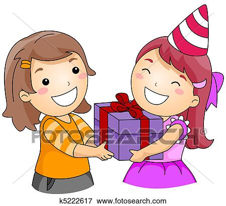 Stock Illustration Of Birthday Gift K5222617 Search Eps Clipart