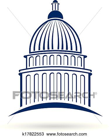 clipart of capitol cupula logo k17822553 search clip art rh fotosearch com capitol building washington dc clipart capital building clip art on inauguration day