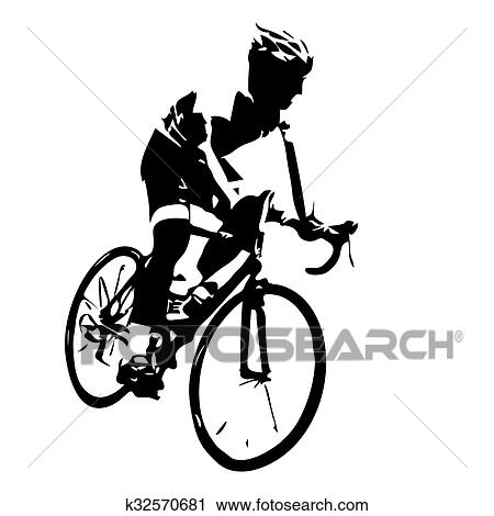 clipart of cyclist silhouette bicycle racing k32570681 search rh fotosearch com cyclist clipart cycling clip art images