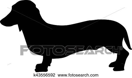 clipart of dachshund silhouette k43556592 search clip art