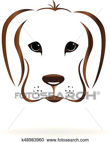 clipart of dog face logo k48983960 search clip art illustration rh fotosearch com boxer dog face clipart free dog face clipart