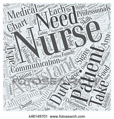 Duties Of A Nursing Assistant Word Cloud Concept Clip Art K46149701 Fotosearch