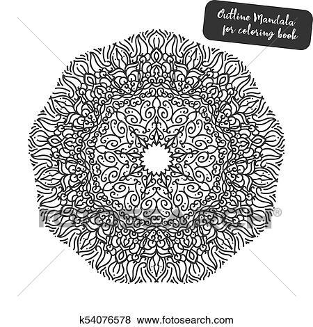Esboco Mandala Para Coloracao Book Decorativo Redondo