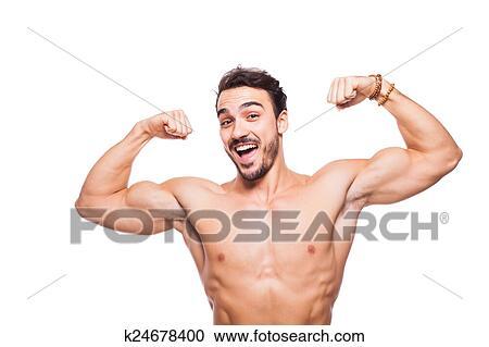 nøgne atletiske modeller