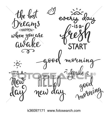 Quotes motivation for life and happiness morning Clipart