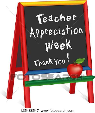 clip art of teacher appreciation week easel k35488547 search rh fotosearch com teacher appreciation clip art borders teacher appreciation clip art pictures