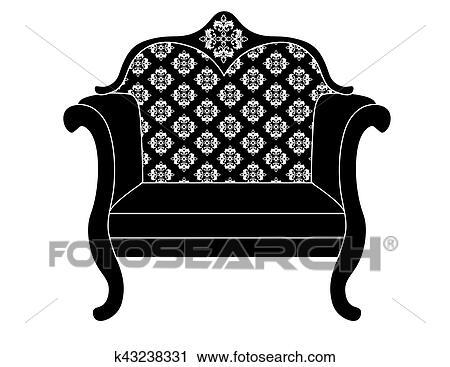 Clipart - vendimia, tapizado, sillón k43238331 - Buscar Clip Art ...