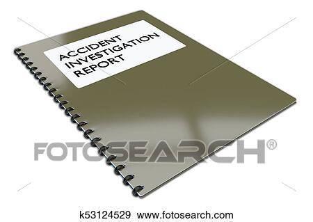 Accident Investigation Report concept Stock Illustration
