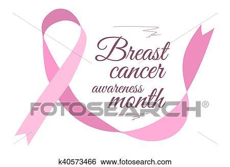 Stock Illustration Of Breast Cancer Awareness Symbol K40573466
