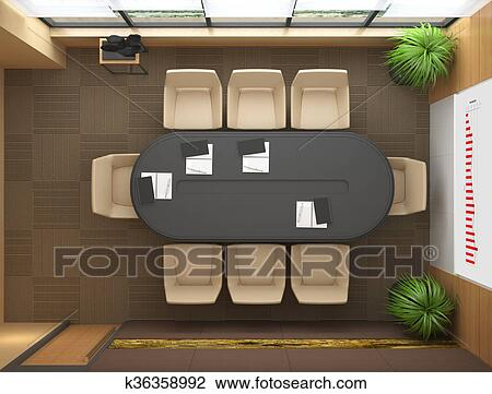 clipart bureau vue dessus k36358992 recherchez des. Black Bedroom Furniture Sets. Home Design Ideas