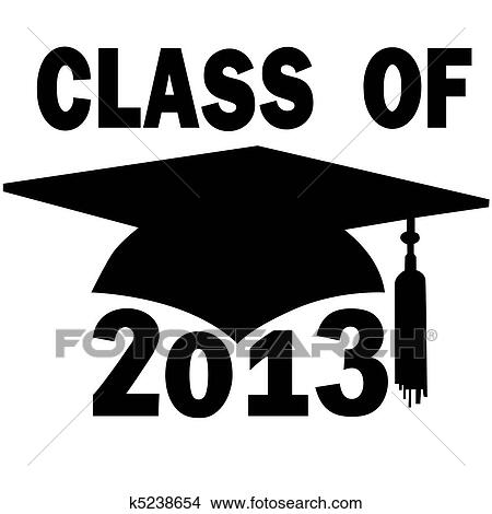 clipart of class of 2013 college high school graduation cap k5238654 rh fotosearch com Preschool Graduation Clip Art 2018 Graduation Clip Art