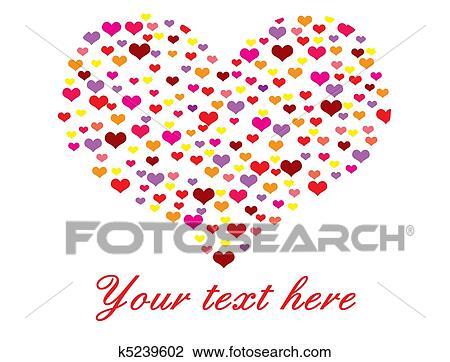 Clipart Corazón Hecho De Muchos Corazones K5239602 Buscar