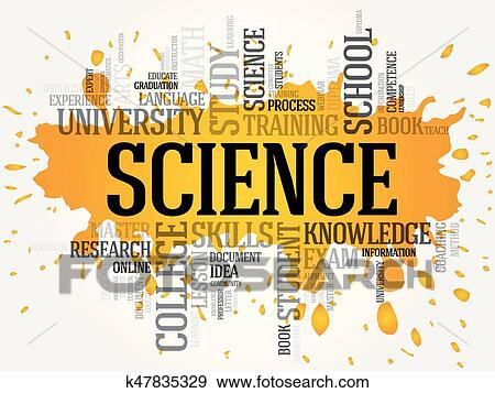 clip art of science word cloud collage k47835329 search clipart