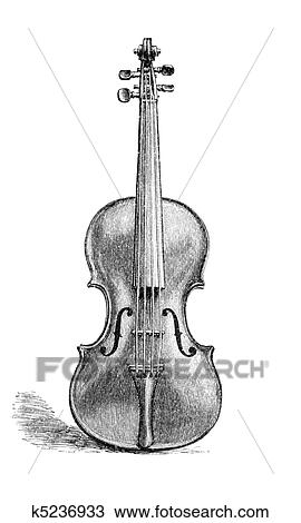 Violino Desenho K5236933 Fotosearch